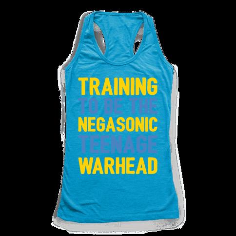 Training To Be The Negasonic Teenage Warhead White Print Racerback Tank Top