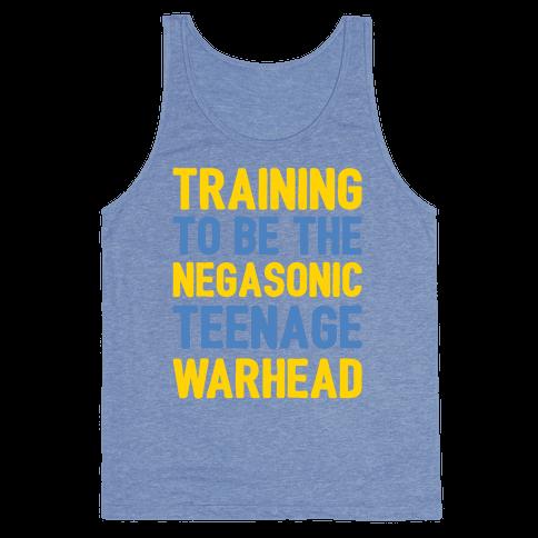 Training To Be The Negasonic Teenage Warhead White Print  Tank Top