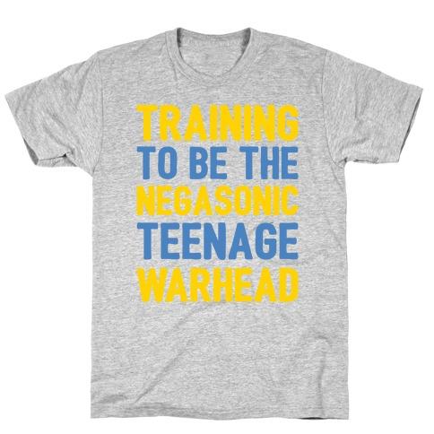 Training To Be The Negasonic Teenage Warhead White Print T-Shirt