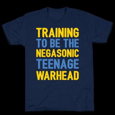 Training To Be The Negasonic Teenage Warhead White Print  Mens T-Shirt
