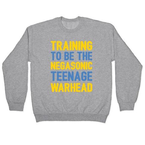Training To Be The Negasonic Teenage Warhead White Print Pullover