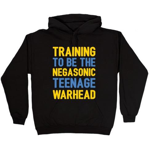 Training To Be The Negasonic Teenage Warhead White Print Hooded Sweatshirt