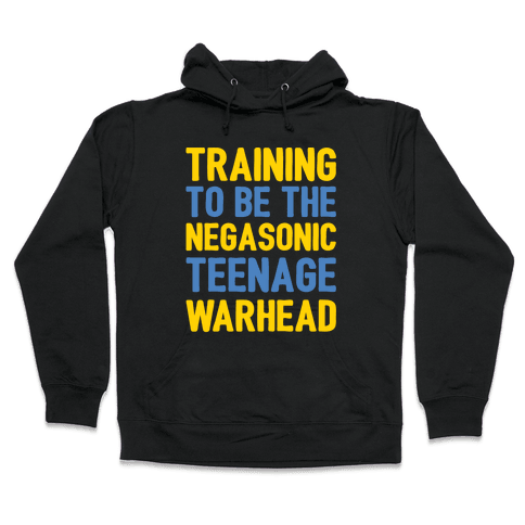 Training To Be The Negasonic Teenage Warhead White Print  Hooded Sweatshirt
