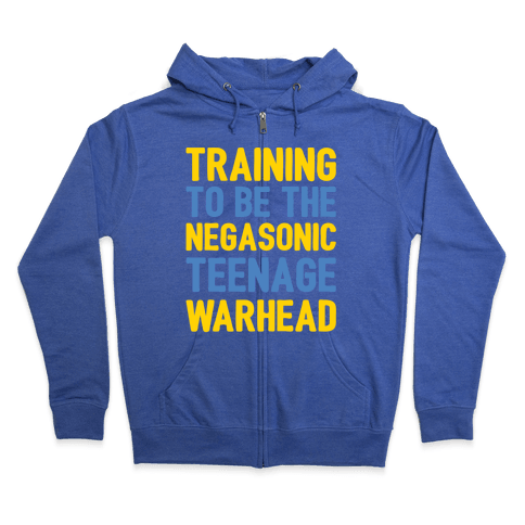 Training To Be The Negasonic Teenage Warhead White Print Zip Hoodie