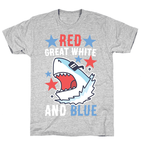 Red, Great White and Blue Mens/Unisex T-Shirt