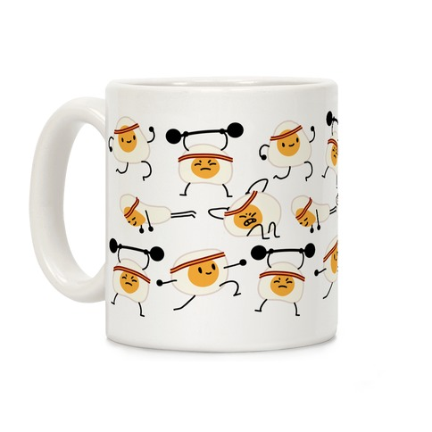 Gettin' Yolked Pattern Coffee Mug