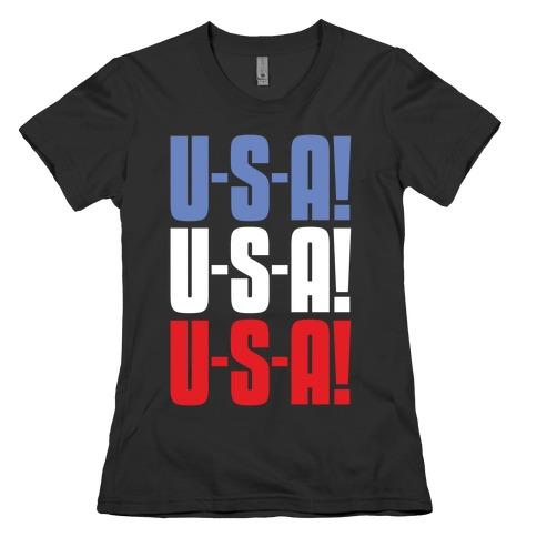 U-S-A! U-S-A! U-S-A! Womens T-Shirt