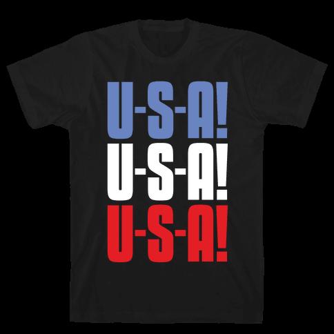U-S-A! U-S-A! U-S-A! Mens/Unisex T-Shirt