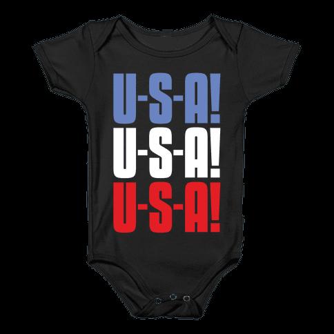 U-S-A! U-S-A! U-S-A! Baby Onesy