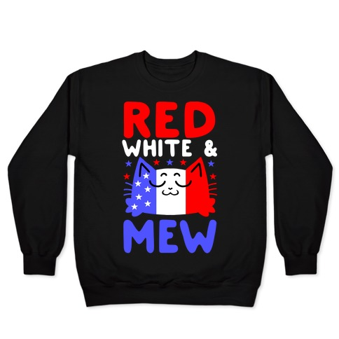 Red, White, And Mew Pullover