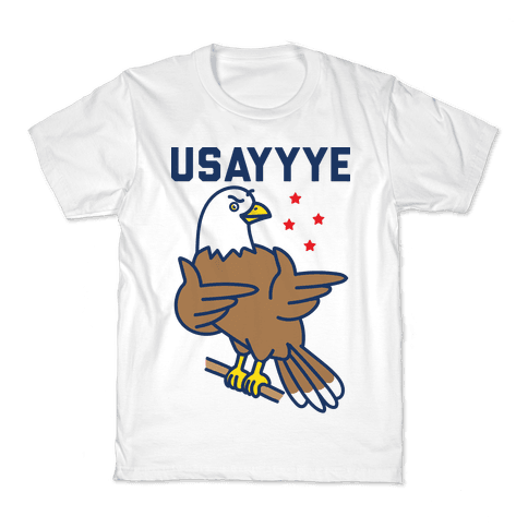 USAYYYE Bald Eagle Kids T-Shirt