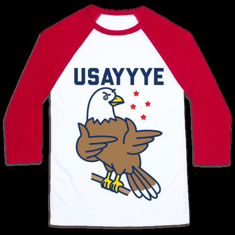 USAYYYE Bald Eagle Baseball Tee