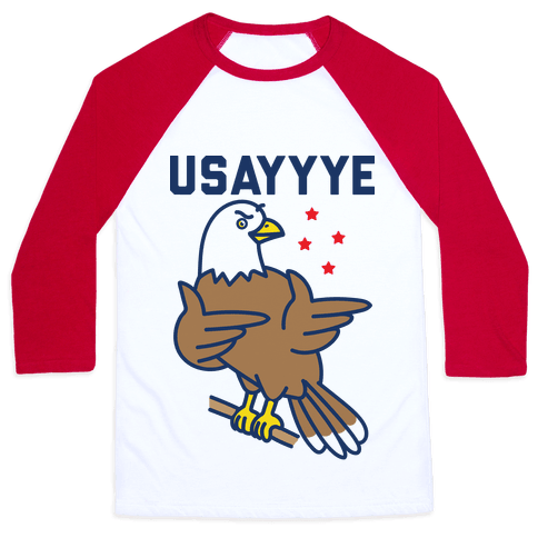 USAYYYE Bald Eagle Baseball Tee
