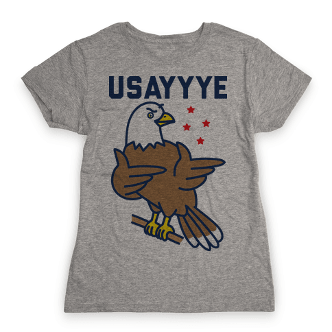 USAYYYE Bald Eagle Womens T-Shirt