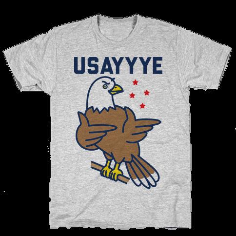 USAYYYE Bald Eagle Mens/Unisex T-Shirt