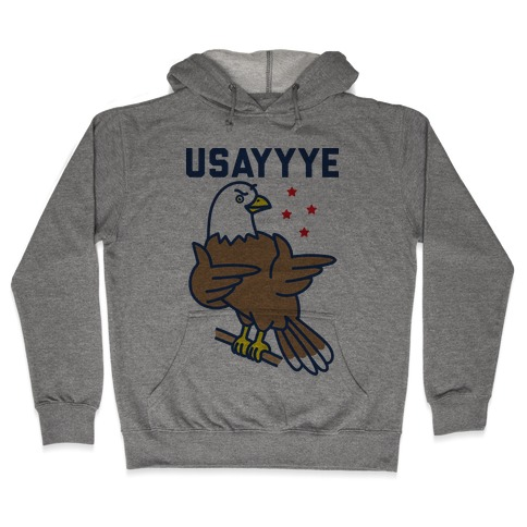 USAYYYE Bald Eagle Hooded Sweatshirt