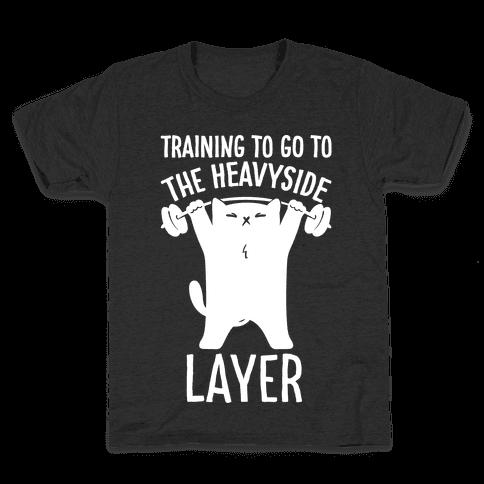 Training To Go To The Heavyside Layer Parody White Print Kids T-Shirt
