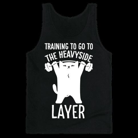 Training To Go To The Heavyside Layer Parody White Print Tank Top