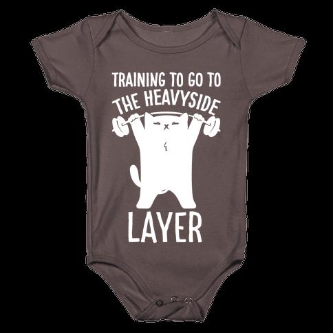 Training To Go To The Heavyside Layer Parody White Print Baby One-Piece