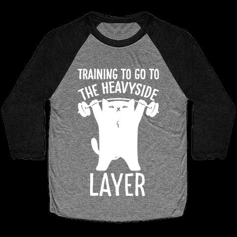Training To Go To The Heavyside Layer Parody White Print Baseball Tee