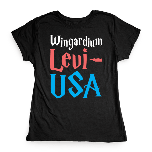 Wingardium Levi-USA Womens T-Shirt