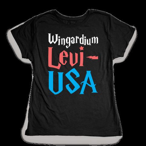 Wingardium Levi-USA Womens T-Shirt
