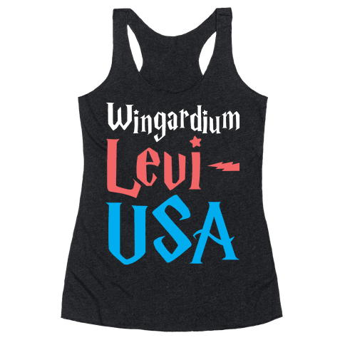 Wingardium Levi-USA Racerback Tank Top