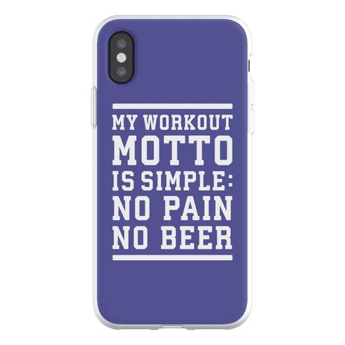 No Pain No Beer Phone Flexi-Case