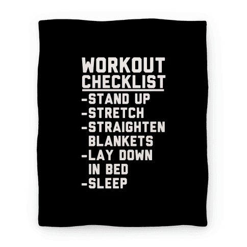 Workout Checklist Blanket