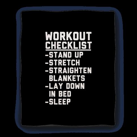Workout Checklist Blanket