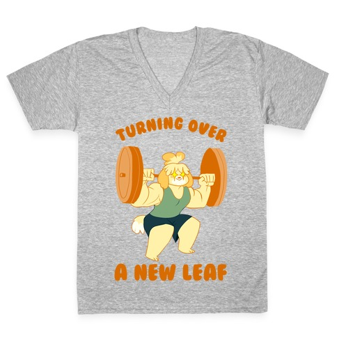 Isabelle Squats V-Neck Tee Shirt