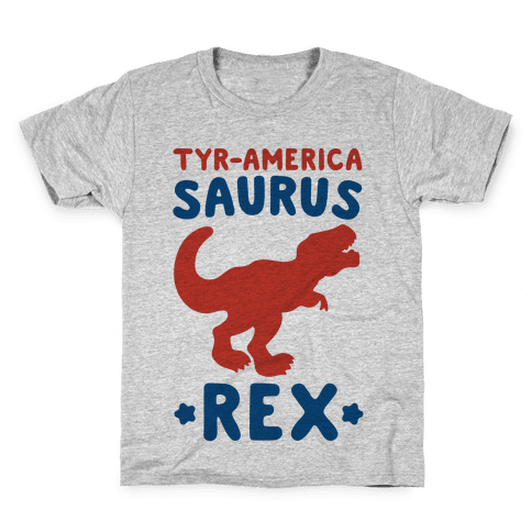 Tyr-America-Saurus Rex Parody Kids T-Shirt