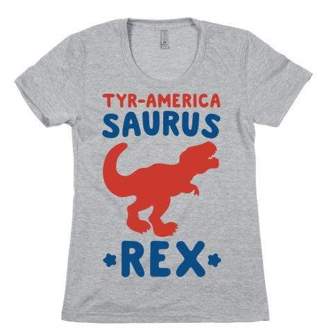 Tyr-America-Saurus Rex Parody Womens T-Shirt