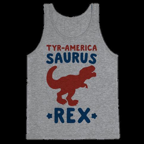 Tyr-America-Saurus Rex Parody Tank Top