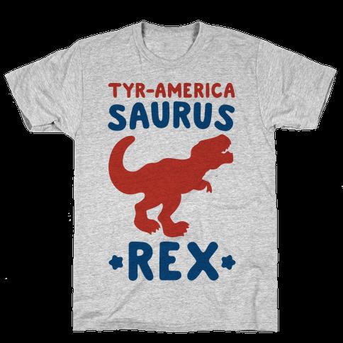 Tyr-America-Saurus Rex Parody Mens/Unisex T-Shirt