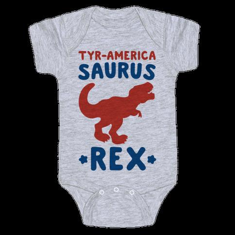 Tyr-America-Saurus Rex Parody Baby Onesy