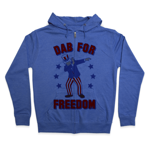 DAB FOR FREEDOM Zip Hoodie