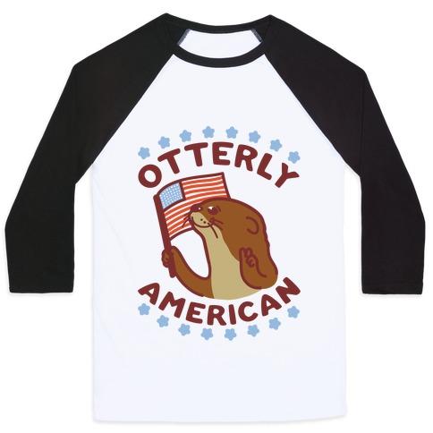 Otterly American Baseball Tee