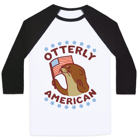Otterly American Baseball Tee