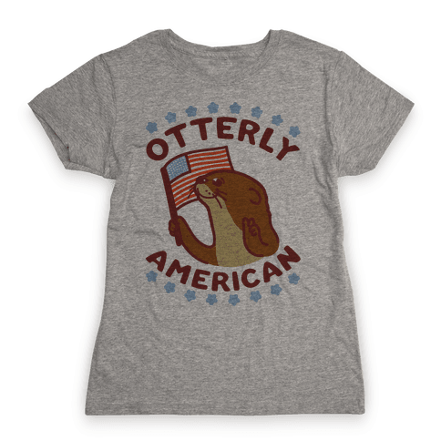 Otterly American Womens T-Shirt