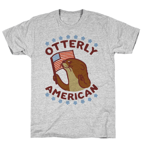 Otterly American Mens/Unisex T-Shirt