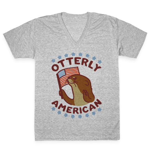 Otterly American V-Neck Tee Shirt