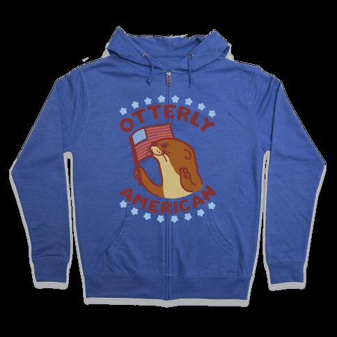Otterly American Zip Hoodie