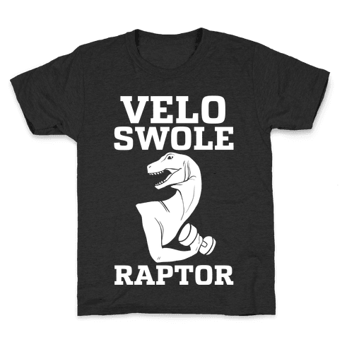 Velo-Swole-Raptor Kids T-Shirt