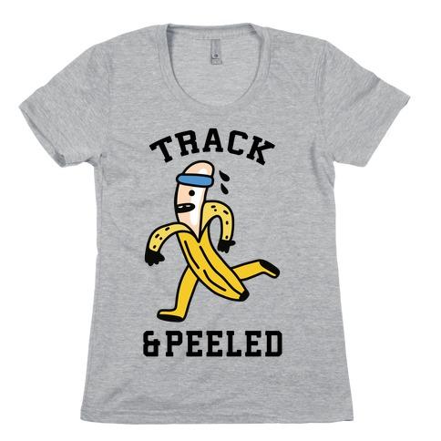 Track & Peeled Womens T-Shirt