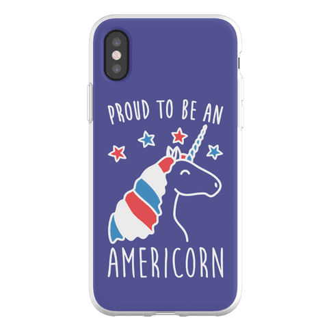 Proud To Be An Americorn Phone Flexi-Case