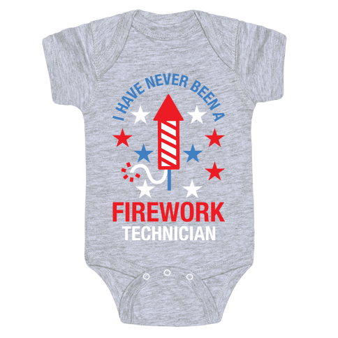 Firework Technician Red White and Blue Baby Onesy