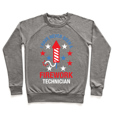 Firework Technician Red White and Blue Pullover