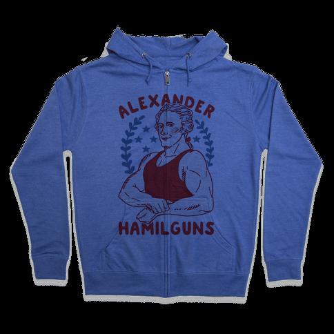 Alexander HamilGUNS Zip Hoodie
