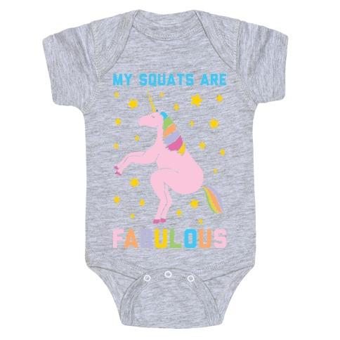 My Squats Are Fabulous - Unicorn Baby Onesy